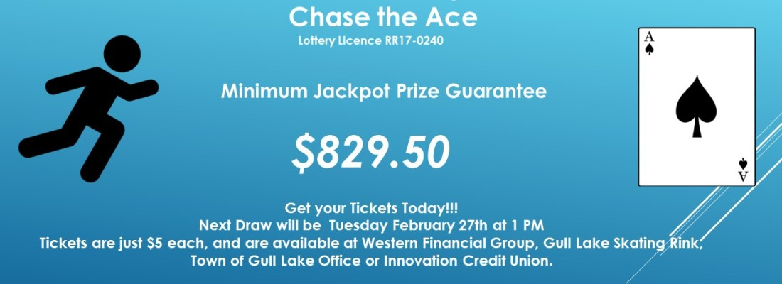 JANINE VAUGHAN WINS THIS WEEK'S CHASE THE ACE DRAW GULL LAKE  Gull Lake Recreation Complex Community