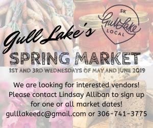 Gull Lake EDC Looking for Spring Market Vendors Economic Development GULL LAKE SouthWest Saskatchewan  Economic Development Committee Community