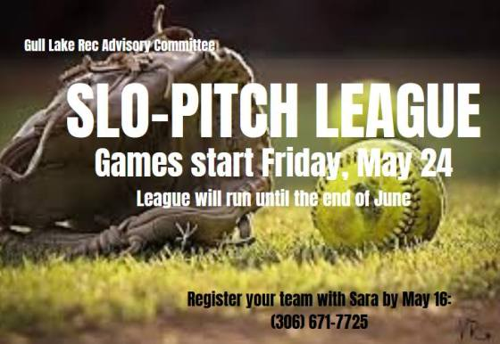 Gull Lake Advisory Committee Slo-Pitch League GULL LAKE  Recreation Advisory Committee Green Power Ball Diamonds
