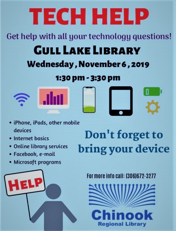 Tech Help At The Gull Lake Library Education GULL LAKE  Gull Lake Library