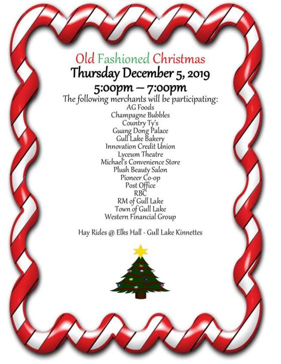 Old Fashion Christmas 2019 Business GULL LAKE  Small Business Events Community