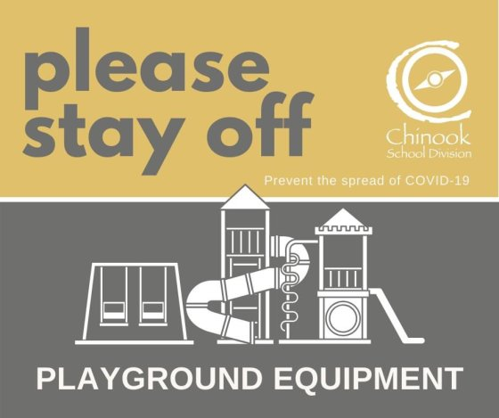 "Chinook School Division ""Please Stay Off Playground Equipment"" Education GULL LAKE Health & Wellness  Gull Lake School Covid-19 Chinook School Division"
