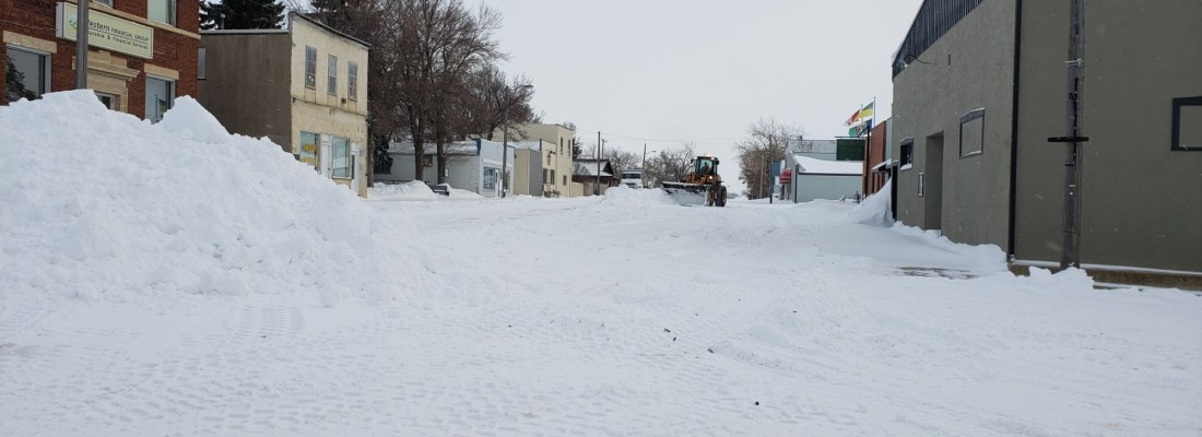 Weekend Snow Storm Snow Clearing Operations Continue Government GULL LAKE  Community