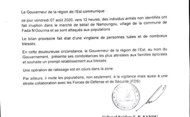 Bilan de l'attaque de Namoungou : Plus d'une vingtaine de morts