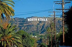 north korea hollywood sign