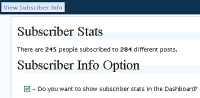 Subscriber Stats