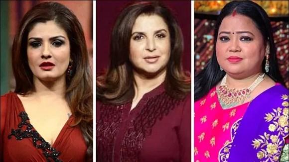 raveena tandan bharti and farah khan