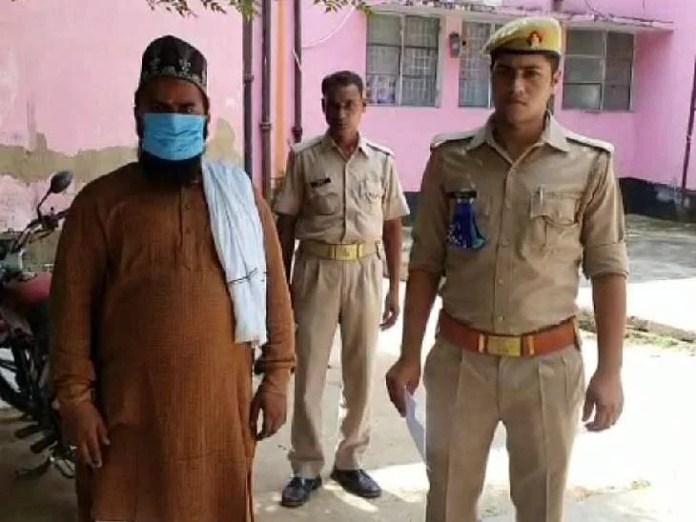 Firoze Alam in custody of Ghazipur Police on Thursday.