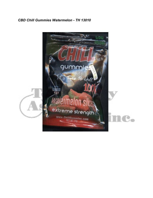 Synthetic Cannab. Analysis CBD Chill Gummies Watermelon TH 13010 5 24 08 Revised 3 4