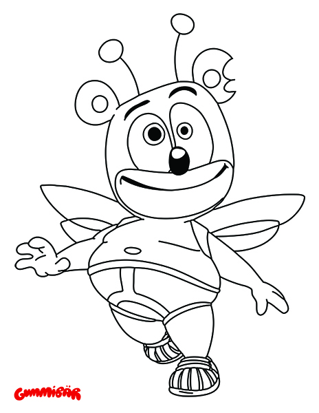 gummy bear coloring page # 5