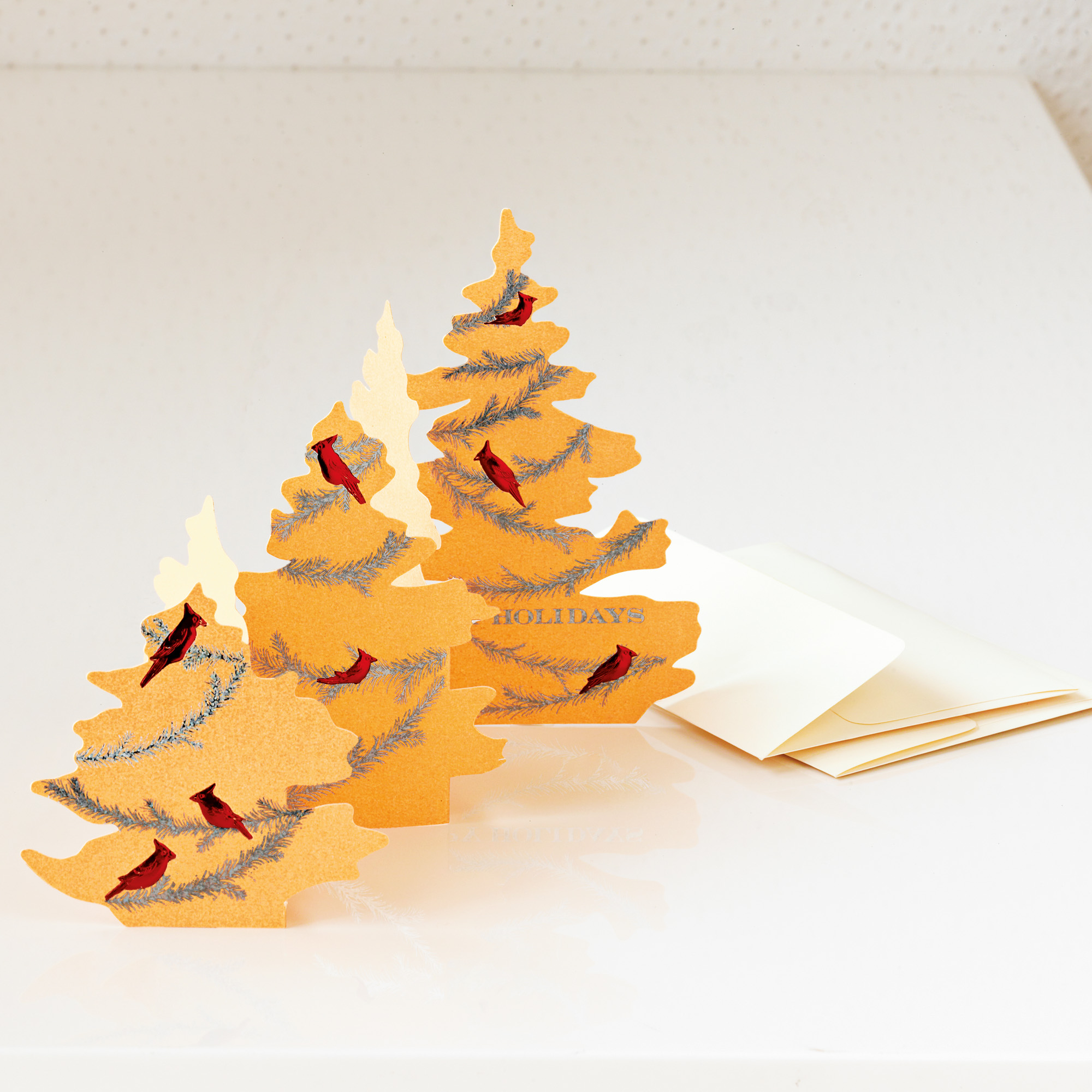 Cardinal On Christmas Tree Cards Gumps