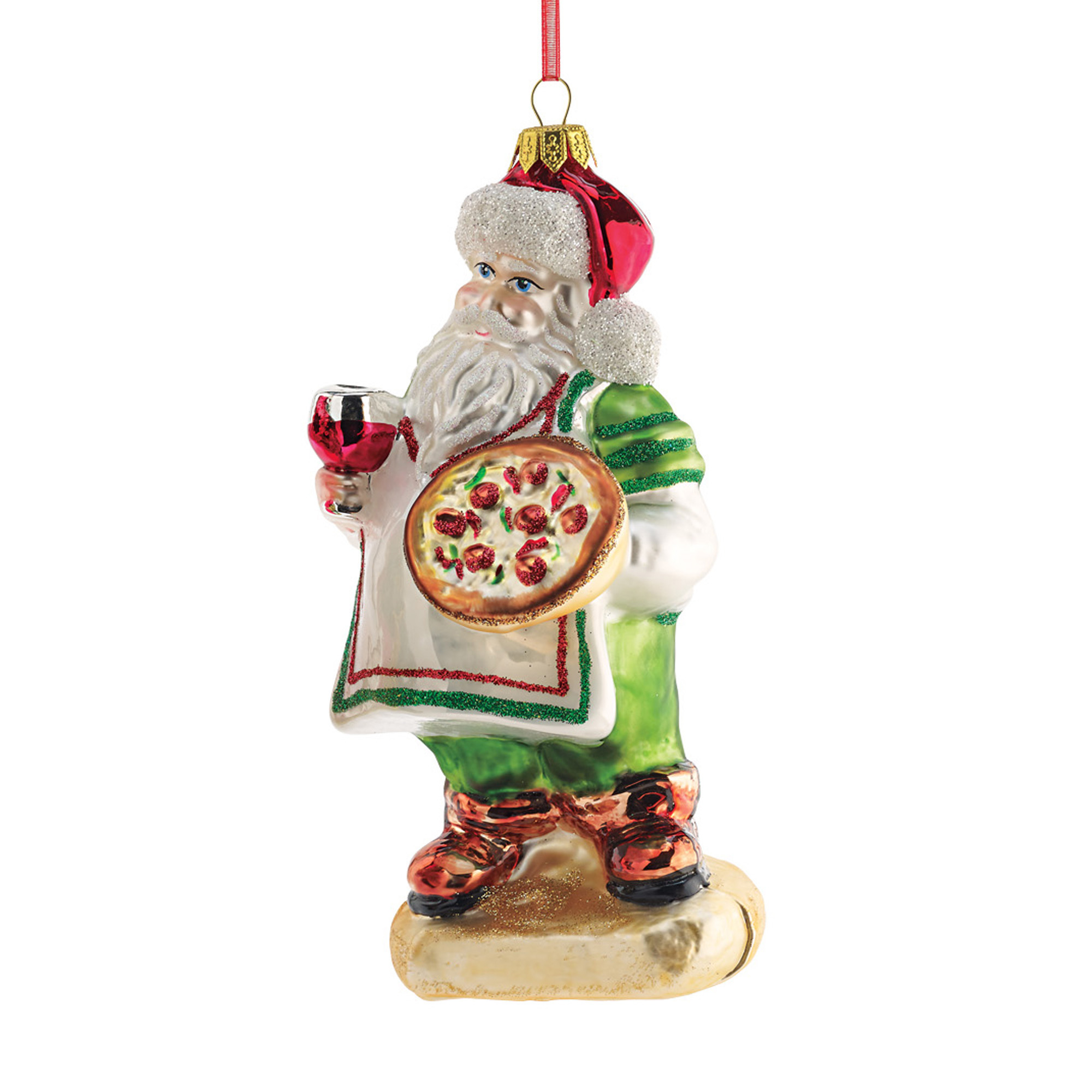 Italian Pizza Santa Christmas Ornament Gumps