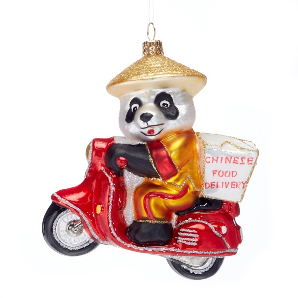 Christmas Ornaments   Hand Painted by Top Designers   Gump s Delivery Panda Christmas Ornament