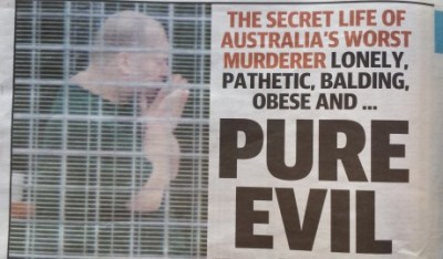 newspaper clipping - pure evil