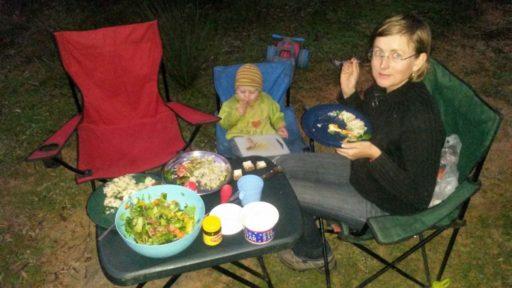 Abendessen in der Natur