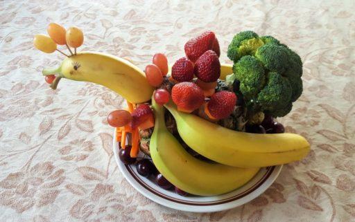 Weihnachtsgans vegan aus Früchten