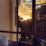Unsere Wohnung in Perth: Sonne in der Morgendämmerung