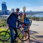 Radasuflug im Kings Park mit Skyline von Perth CBD