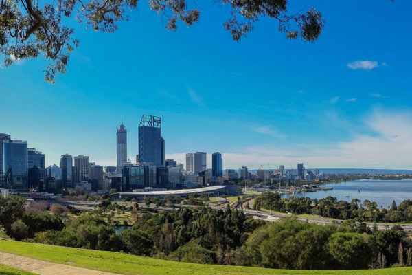 Skyline von Perth CBD vom Kings Park