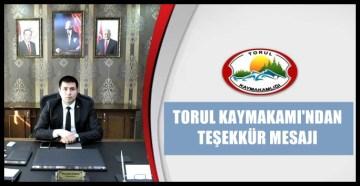 TORUL KAYMAKAMI KARALİ'DEN ŞEHİT TEŞEKKÜRÜ