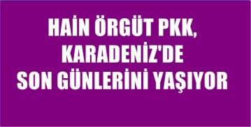 PKK'LILAR KARADENİZ'DE TEK TEK TESLİM OLUYOR