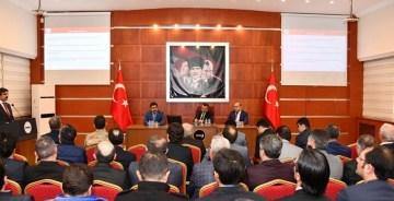 """GÜMÜŞHANE VALİLİĞİ'NDE """"OKULLARIN GÜVENLİĞİ"""" GÖRÜŞÜLDÜ"""