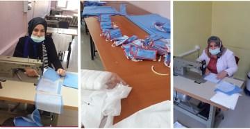 Gümüşhane Halk Eğitim Merkezi'nde Maske Üretimi Başladı