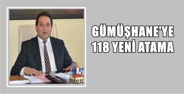 GÜMÜŞHANE'YE 118 YENİ SAĞLIK PERSONELİ ATANDI