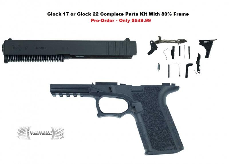 Glock 17 80 Pistol Frame Kit With Complete Slide And Lower