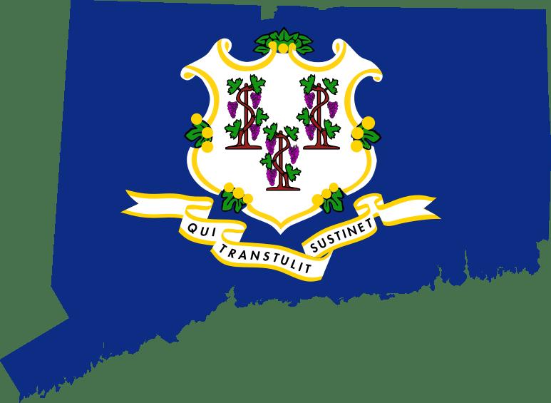 Connecticut flag map