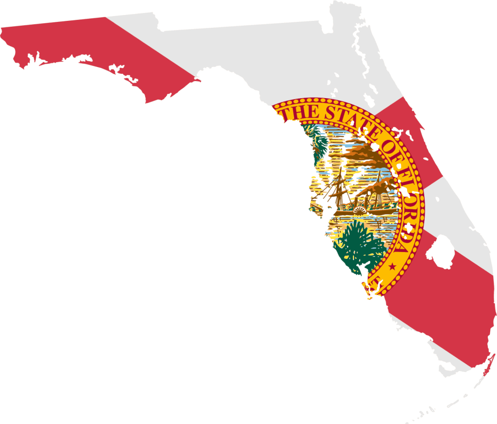 Florida flag map