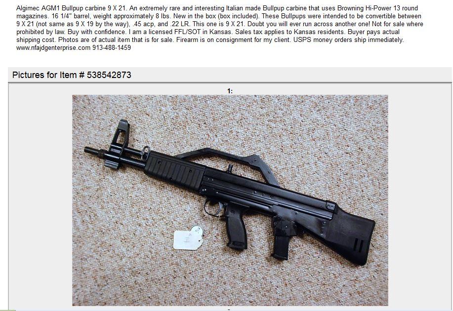 Algimec AGM1 gunbroker