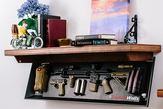 learn to make this DIY wall gun safe at http://guncarrier.com/conceal-weapons-diy-gun-safes