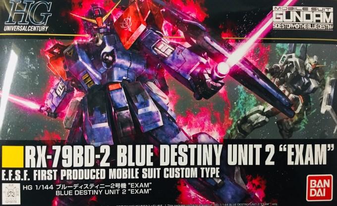 "1/144 HGUC 208 ブルーディスティニー2号機""EXAM"" BLUE DESTINY UNIT2 RX-79BD-2 サイドストーリー SIDESTORY"
