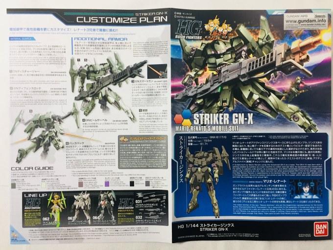 HGBF 065 1/144 ストライカージンクス STRIKER GN-X ビルドファイターズ BUILD FIGHTERS マリオ レナート MARIO RENATO