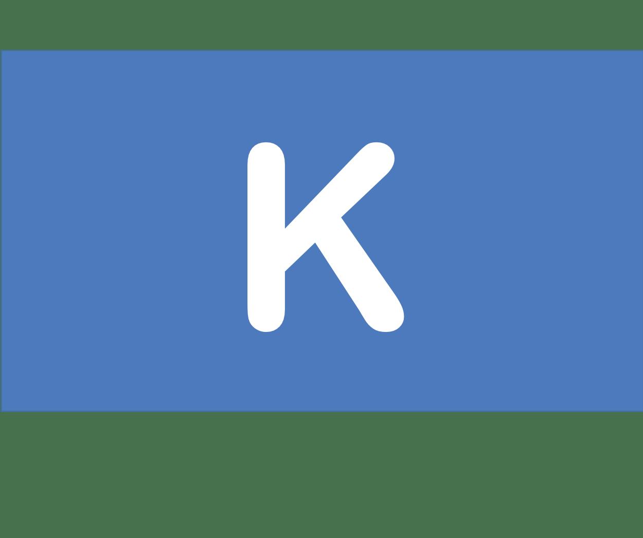19 K カリウム Potassium 元素 記号 周期表 化学 原子