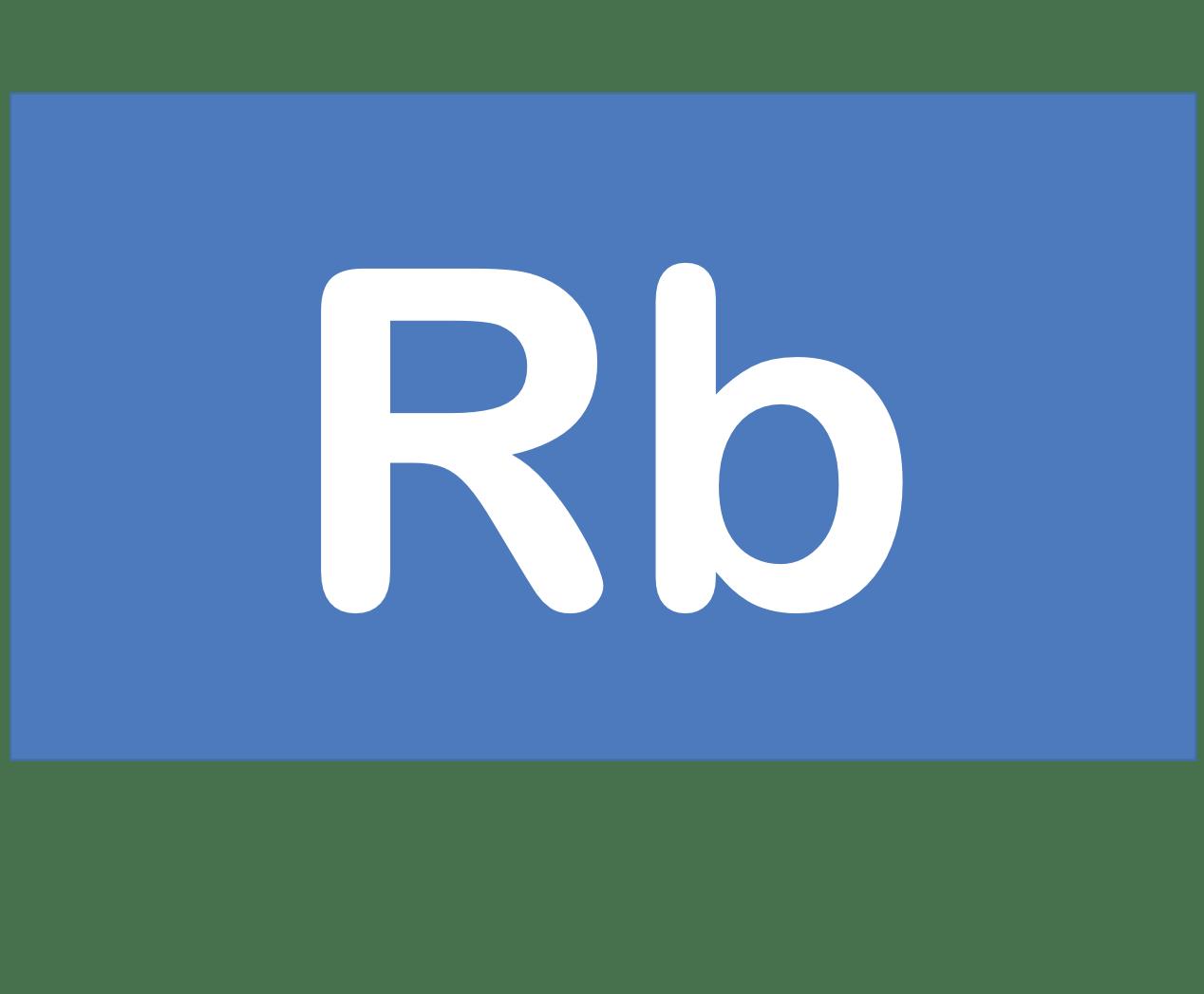 37 Rb ルビジウム Rubidium 元素 記号 周期表 化学 原子