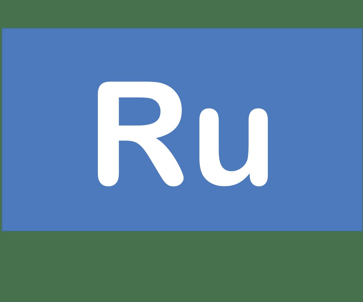 44 Ru ルテニウム Ruthenium 元素 記号 周期表 化学 原子