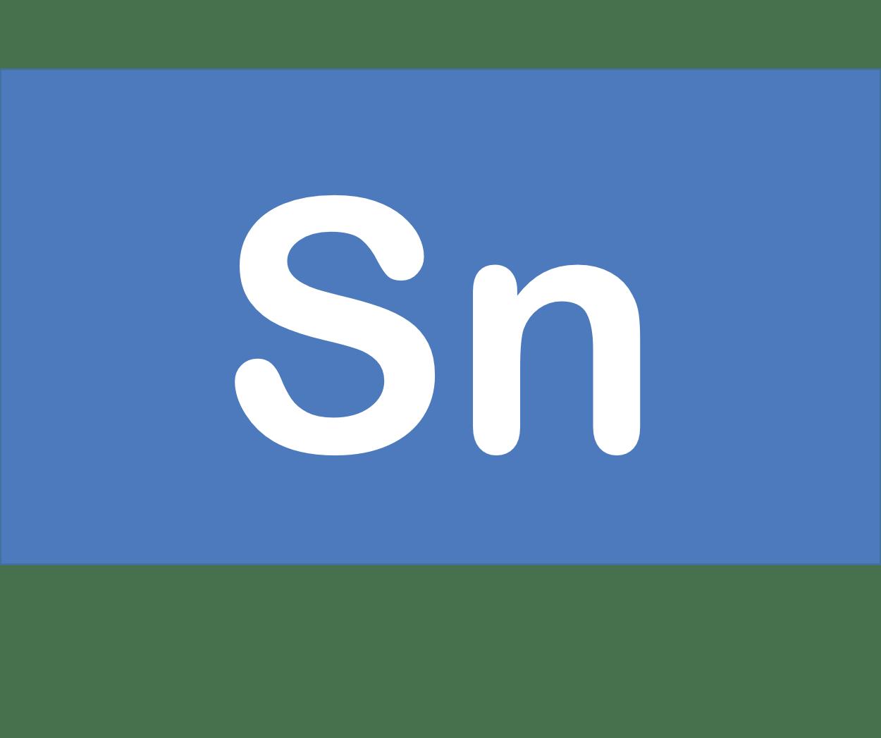 50 Sn スズ Tin 元素 記号 周期表 化学 原子