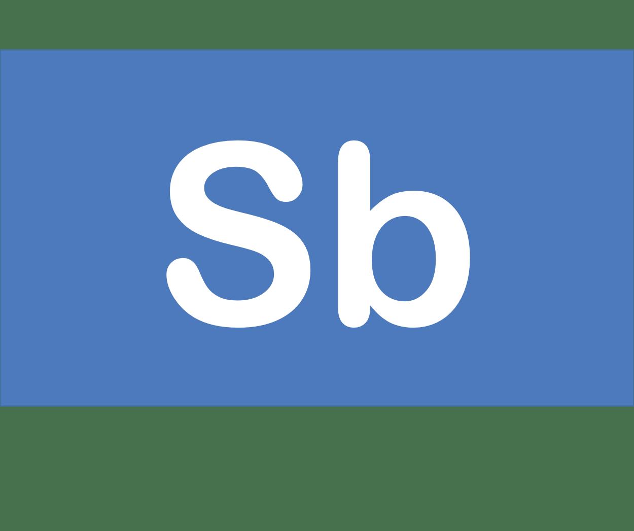 51 Sb アンチモン Antimony 元素 記号 周期表 化学 原子