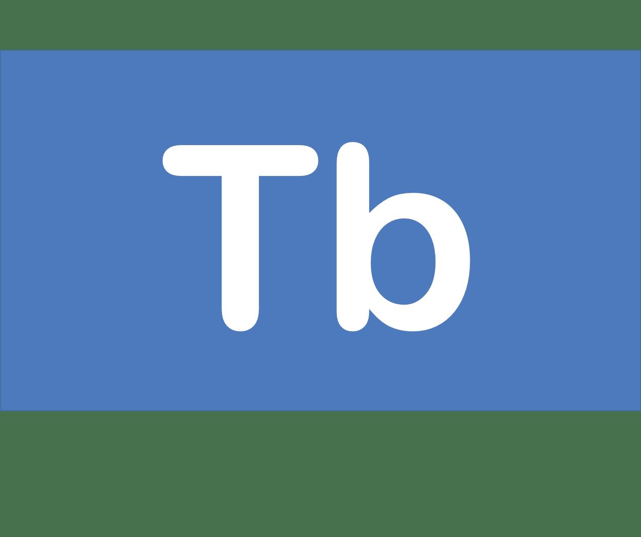 65 Tb テルビウム Terbium 元素 記号 周期表 化学 原子