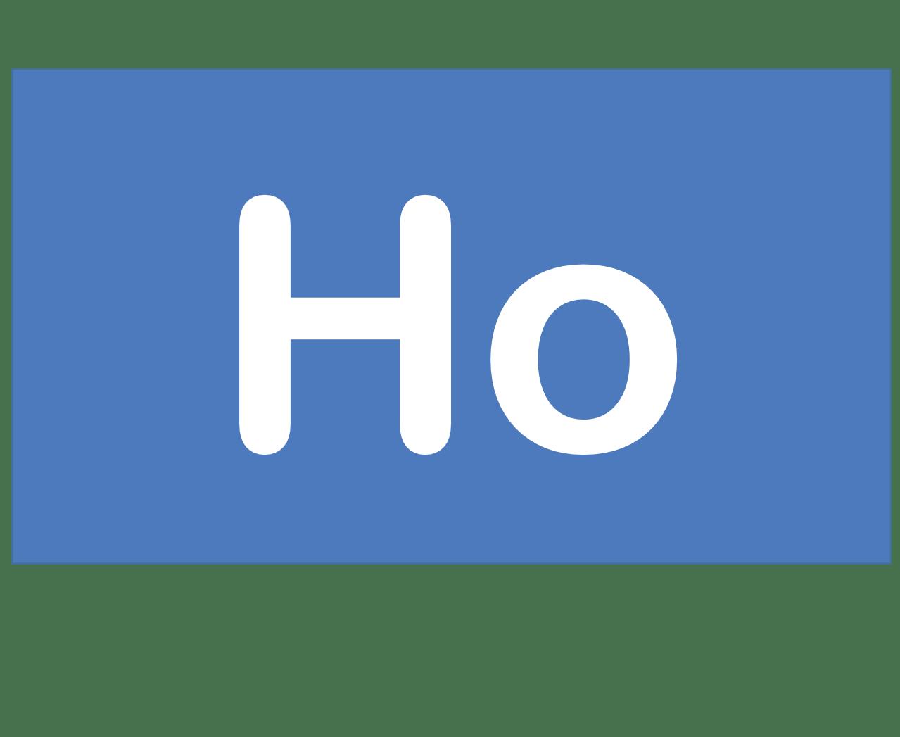 67 Ho ホルミウム Holmium 元素 記号 周期表 化学 原子