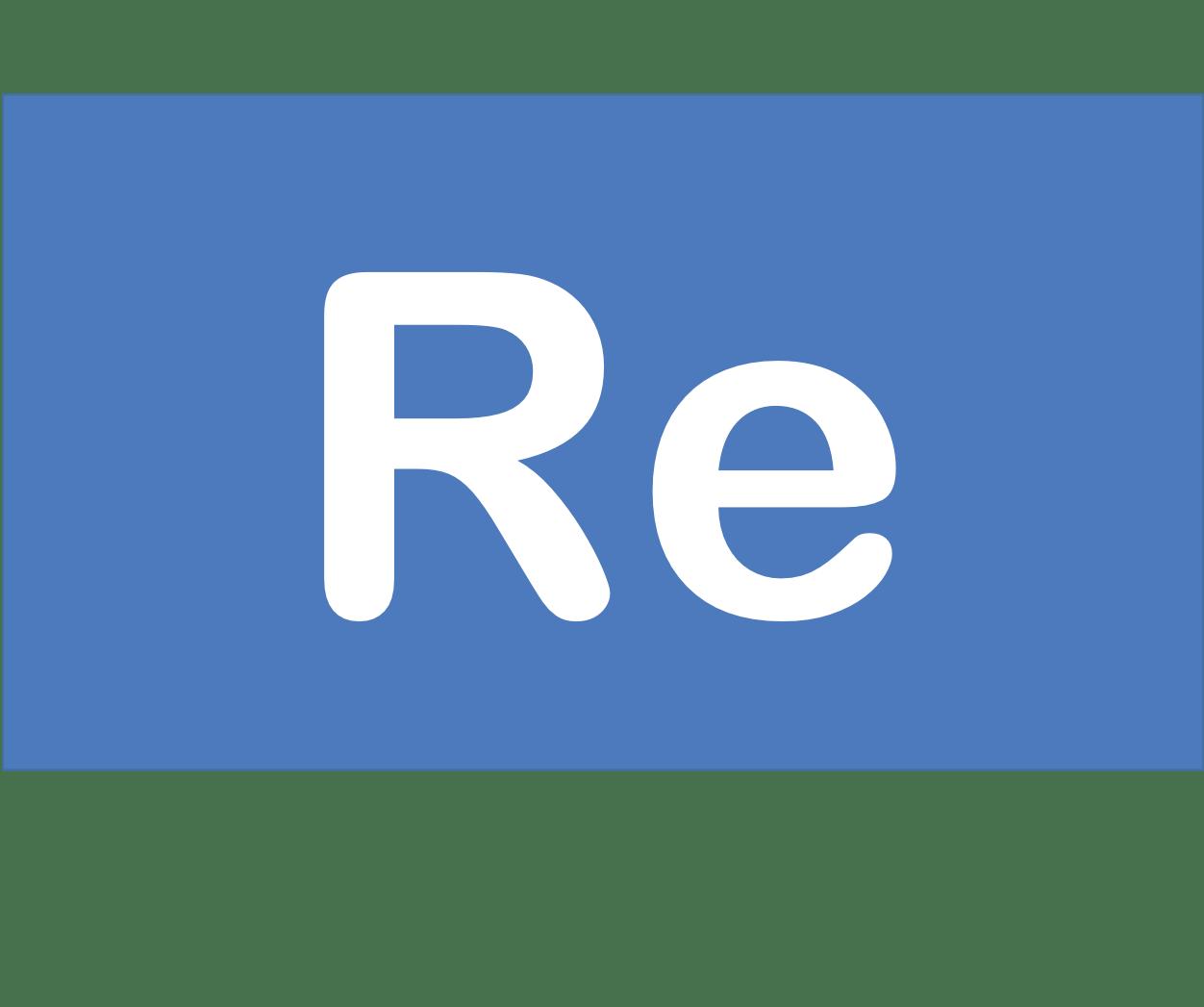 75 Re レニウム Rhenium 元素 記号 周期表 化学 原子