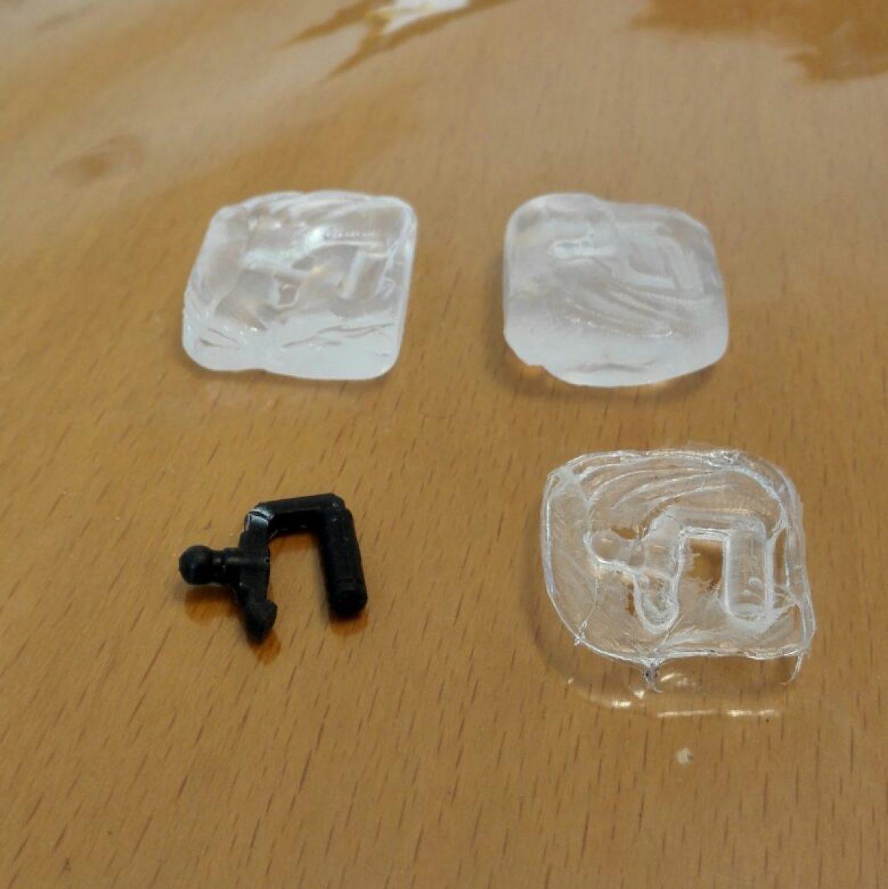 おゆまるやおゆぷらとUVクラフトレジン液によるパーツの複製方法に関する画像