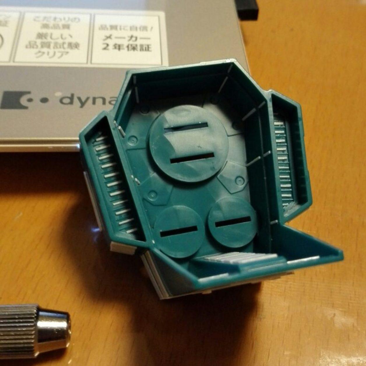 フルドドの拡張パーツであるHGUCギャプランのギャプラン・ブースターのプラ工作と穴開けによるディテールアップの画像