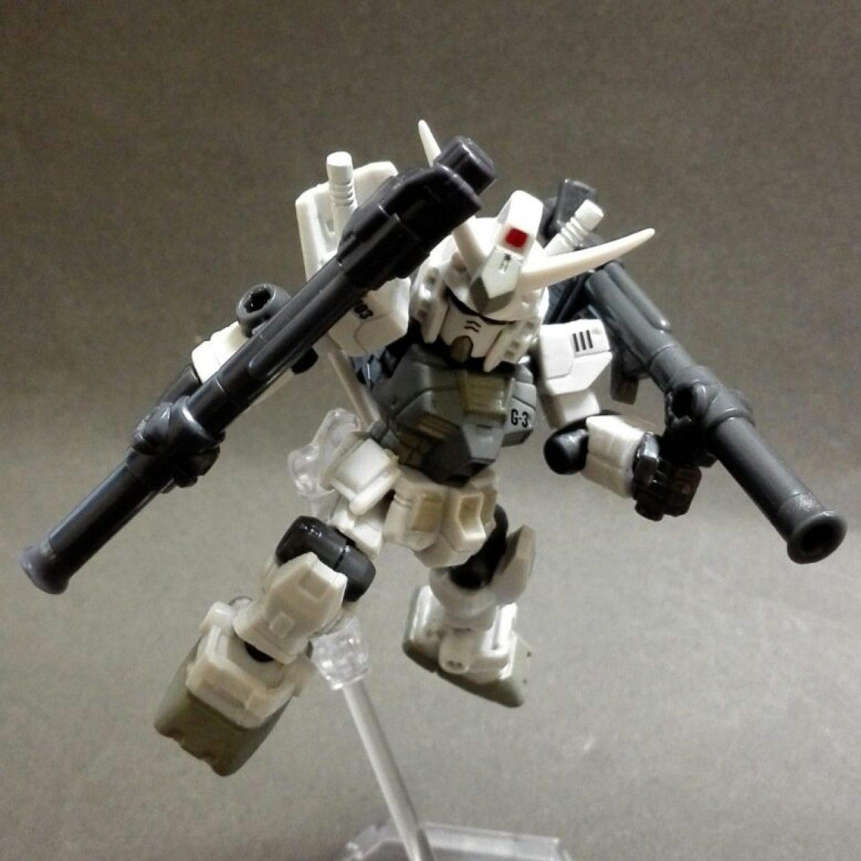 MOBILE SUIT ENSEMBLE(モビルスーツアンサンブル)1.5弾のガンダム(G3)と武器セットのハイパー・バズーカ組み合わせの画像