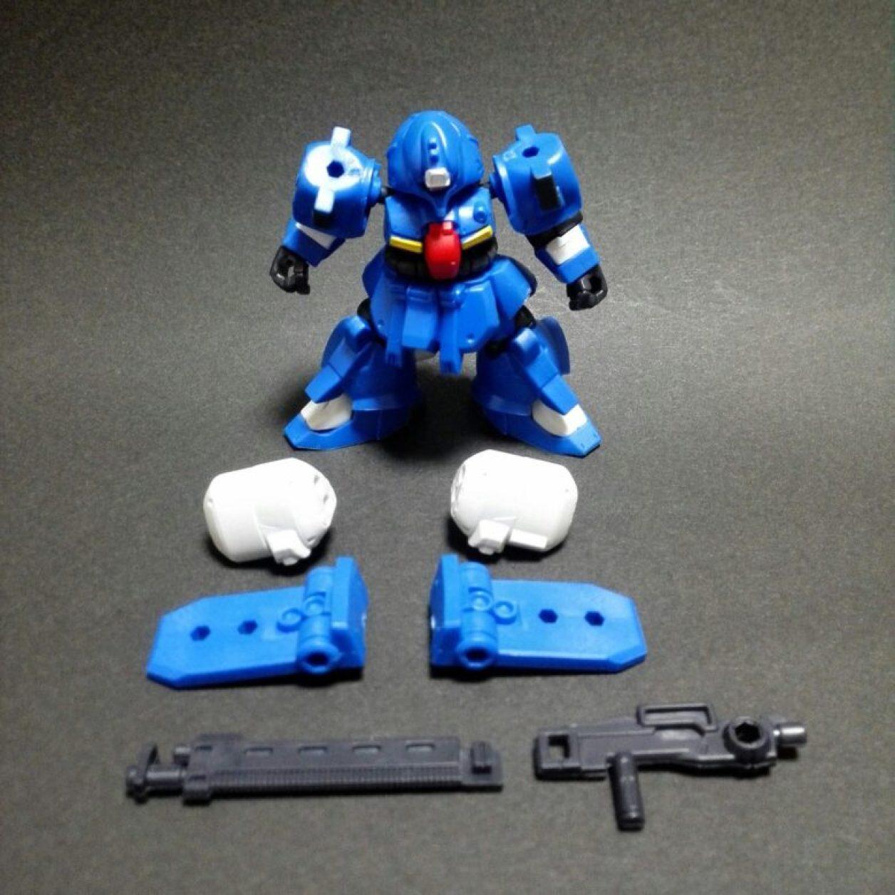 mobile suit ensemble 13弾 ゼクアインとMS武器セットの組み合わせよりゼクアイン第3種兵装の組立方法を示した画像