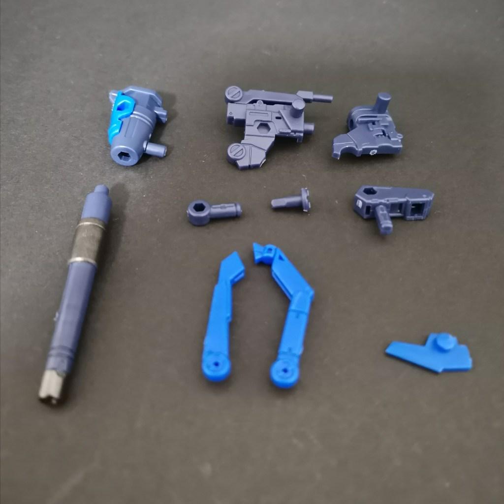 MOBILE SUIT ENSEMBLE EX27弾のハイニューガンダムセットのハイパーメガバズーカランチャーの組立方法を説明した画像