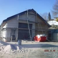 Baufortschritt des Gemeinschaftsbaus (Herbst 2020)