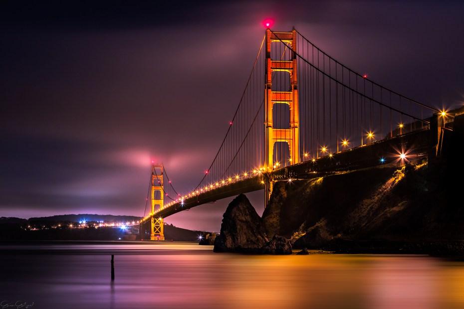 Golden Gate Köprüsü, San Francisco, ABD.